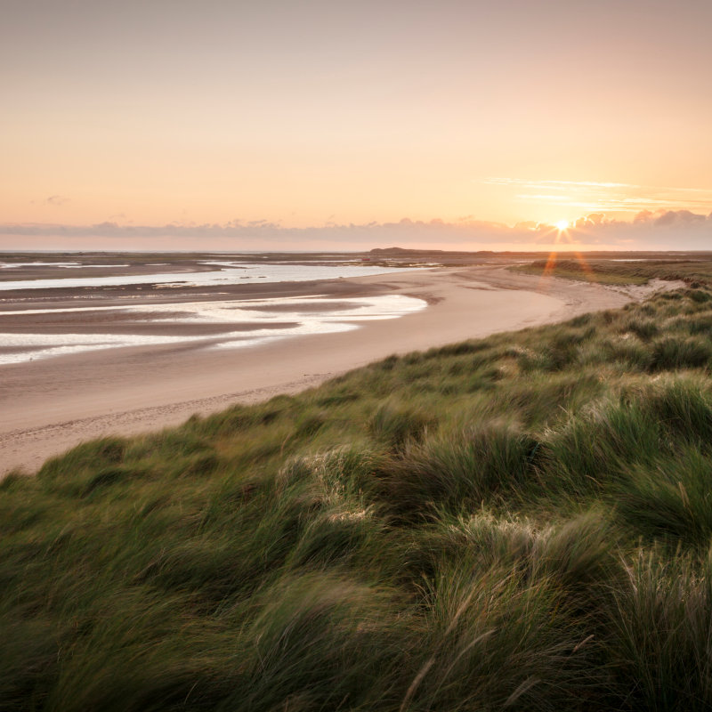 Brancaster Beach - Brancaster beach with it�s wide expanse of golden sands is perfect for Summer sandcastles or Winter wanders, even on the busiest of days there is room to find your own space and get lost in it�s tranquil calm.