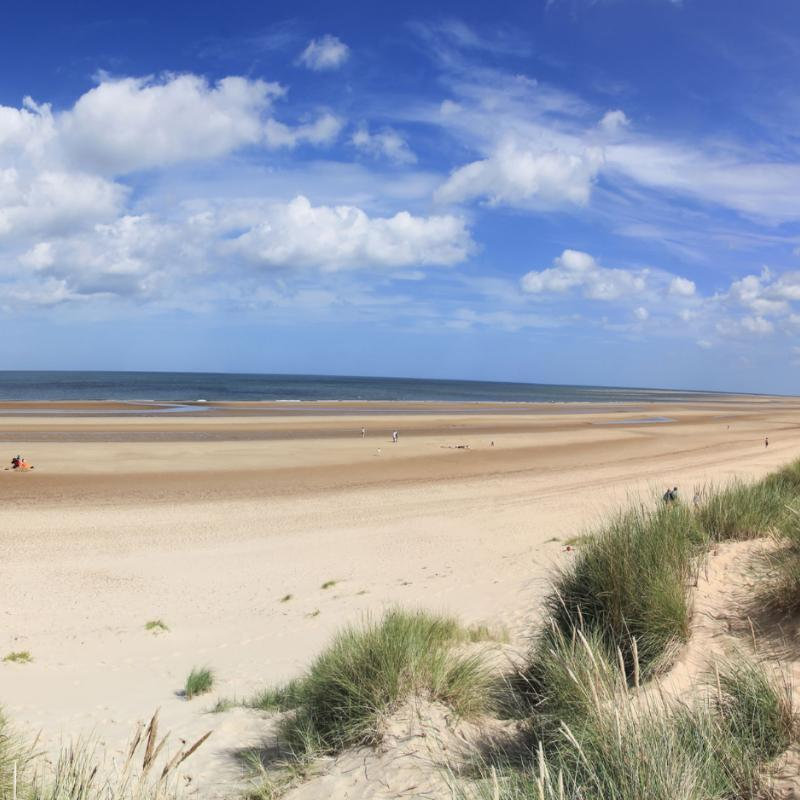 Holkham Beach - The beach at Holkham is one of the most unspoilt and beautiful stretches of sand in the country. The actress Gwyneth Paltrow walked across Holkham sand at low tide during the closing scenes of the film �Shakespeare in Love�.