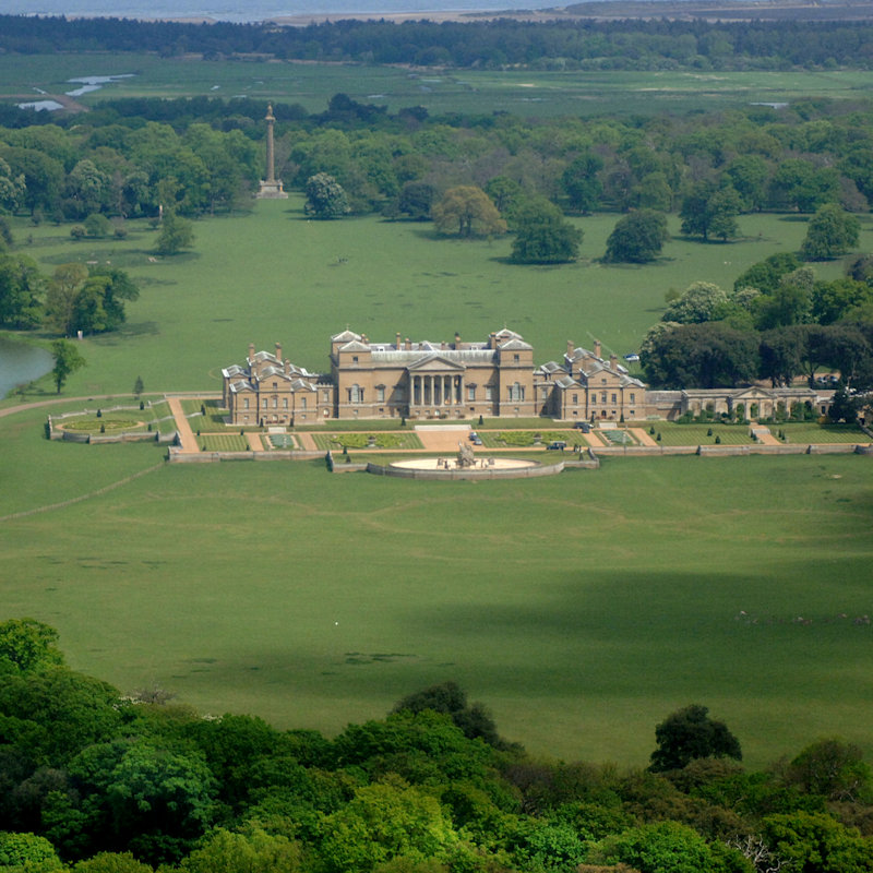 Holkham Hall and Estate - A tourist attraction in north Norfolk, including a stately home, farming exhibition, walled garden, woodland adventure play area, cycle hire and lake activities, parkland, gift shop, café and events throughout the year.
