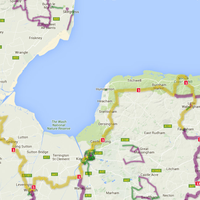 National Cycle Route No1 - Hull to Fakenham, Hull to Fakenham, Yorkshire, Lincolnshire and Norfolk - Cycling - The Northern half of the Hull to Harwich cycle route has ideal cycling country with quiet routes and a flat landscape. | Brancaster Staithe & Burnham Deepdale, North Norfolk Coast