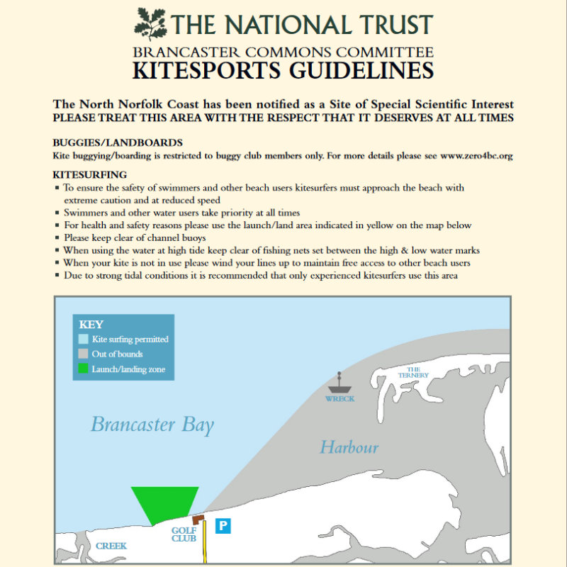 Kiting Guidelines - The North Norfolk Coast has been notified as a Site of Special Scientific Interest.  PLEASE TREAT THIS AREA WITH THE RESPECT THAT IT DESERVES AT ALL TIMES