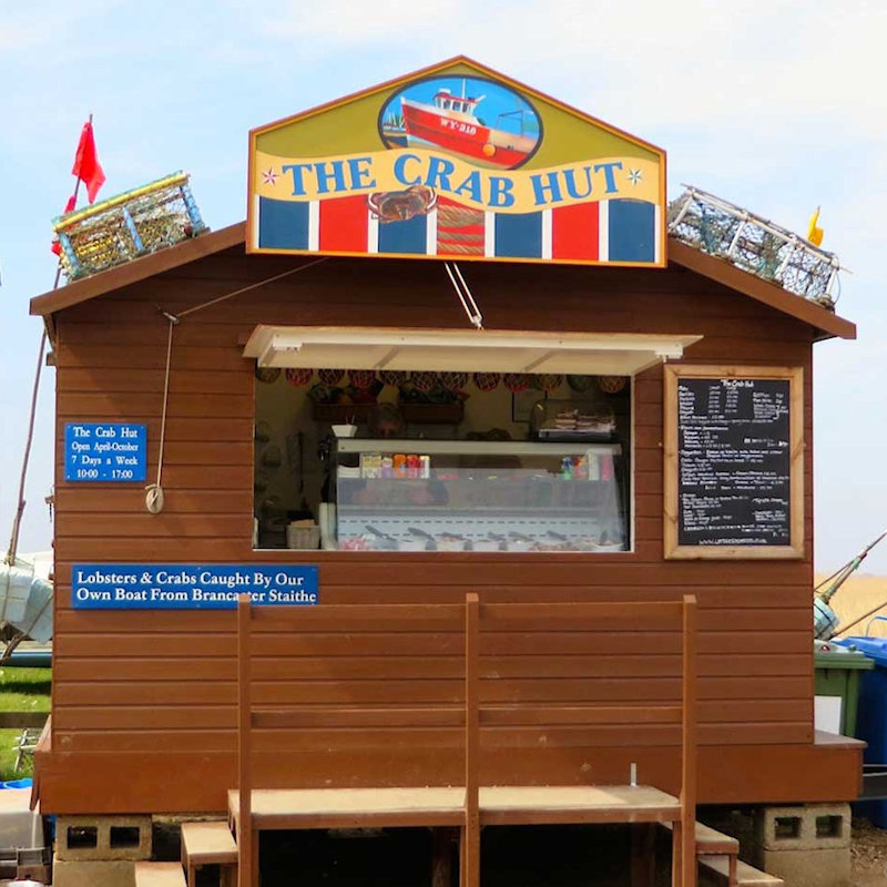 The Crab Hut - Fresh filled baguettes & local seafood. Crabs & lobsters caught by our own boat. Smoked salmon from our smokehouse.